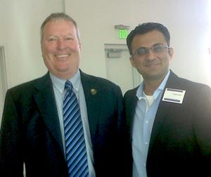 Abdullah Tharoo with Orlando Mayor Buddy Dyer