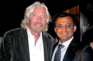 Abdullah Tharoo with Sir Richard Branson