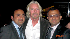 Abdullah and Ali Tharoo with Sir Richard Branson