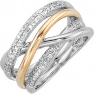 14K White & Yellow 1/3 CTW Diamond Ring
