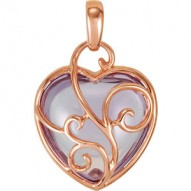 Rose de France Heart Pendant