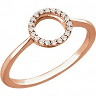14K Rose 1/10 CTW Diamond Circle Ring
