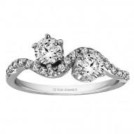 FA220 - Diamond Two Stone Ring