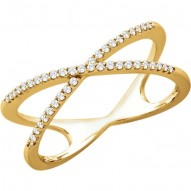 14K Yellow 1/6 CTW Diamond Ring