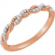 14K Rose .08 CTW Diamond Stackable Ring