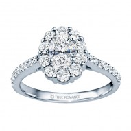 Rm1381v-14k White Gold Oval Cut Halo Diamond Engagement Ring