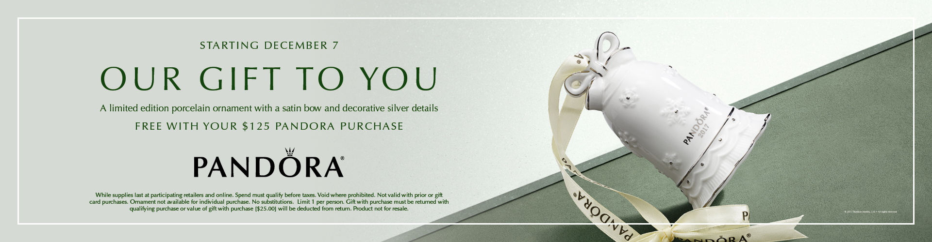 Pandora Holiday Ornament Yours Free with Qualifying Purchase!